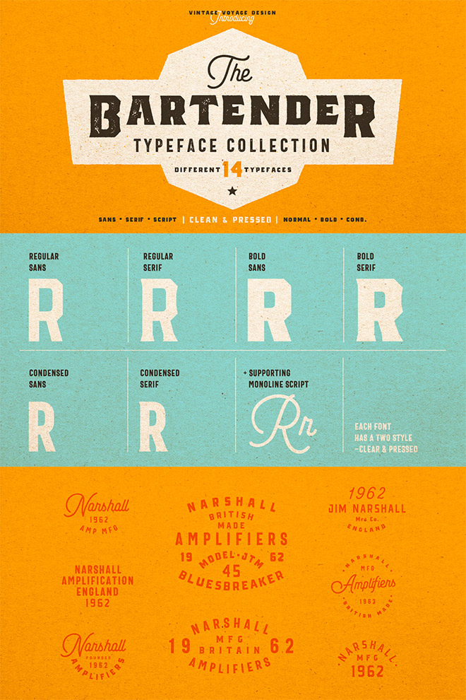 The Bartender Typeface Collection