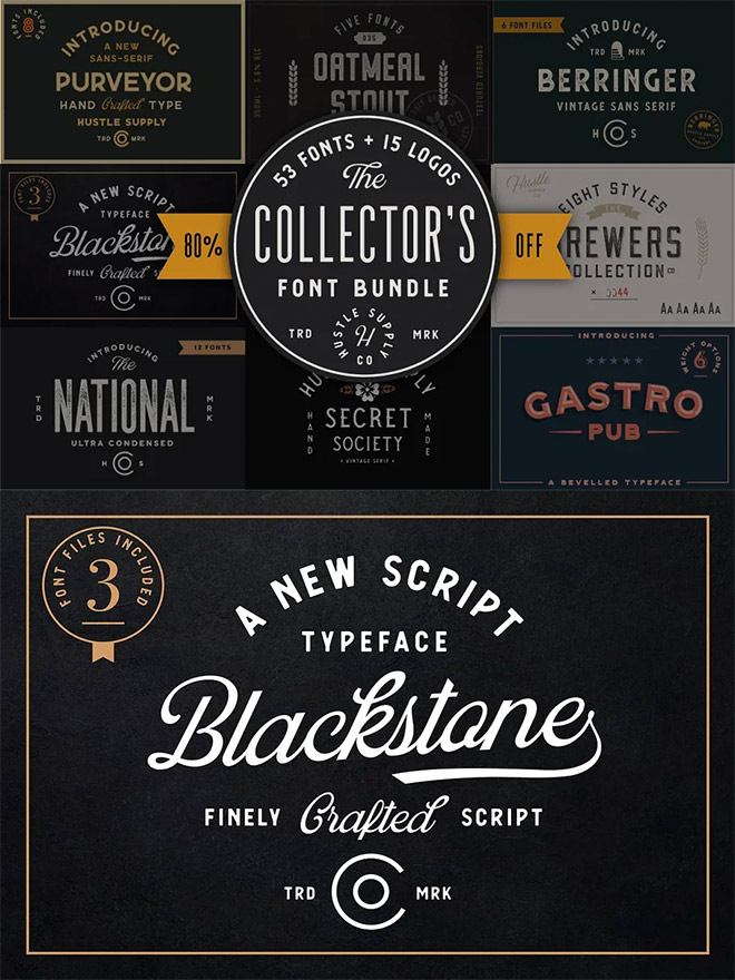 The Collector's Font Bundle