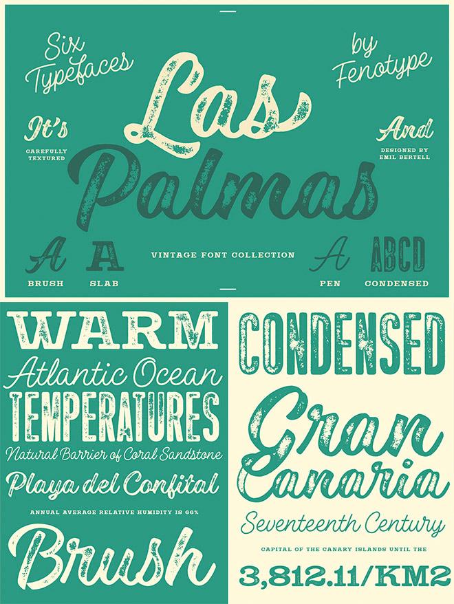 Las Palmas Vintage Type Collection