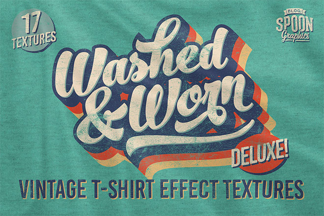 Washed and Worn Old T-shirt Textures