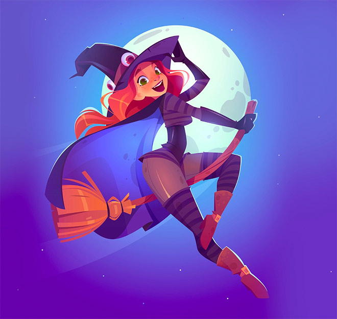 A Witch Girl by PVP Studio