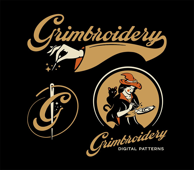 Grimbroidery Brading by Consume Design