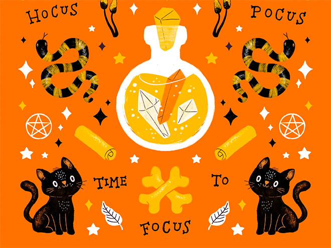 Hocus Pocus Time to Focus by Susanne Lork