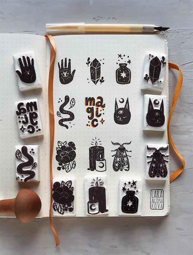 Magic Stamps Set by Lara Agoshkova