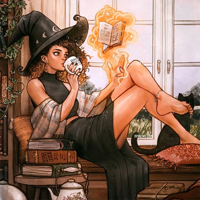 Witch Art by Ivy Dolamore