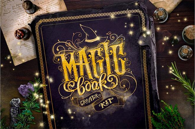 Magic Spell Book Creator Kit