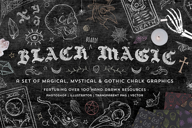 Black Magic Chalk Graphics