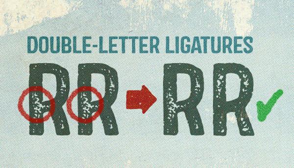 Double letter ligatures