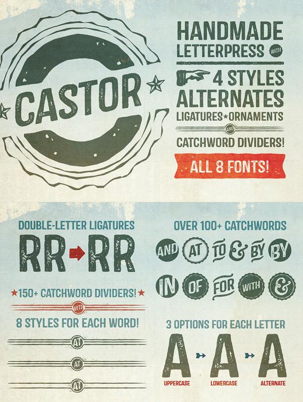 Castor font preview