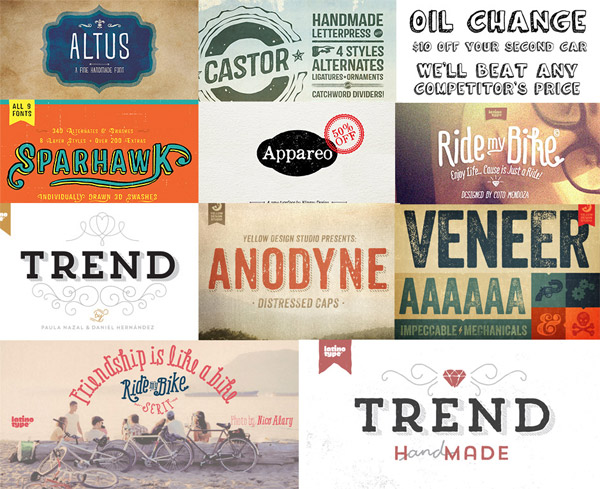 Creative fonts bundle preview