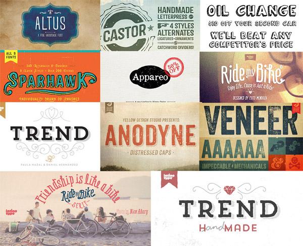 Creative fonts bundle preview