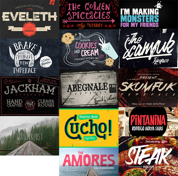 Artisitic Fonts Bundle