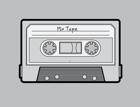 Vector mix tape