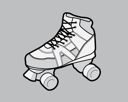 Vector roller skate