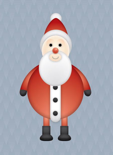 Vector Santa character