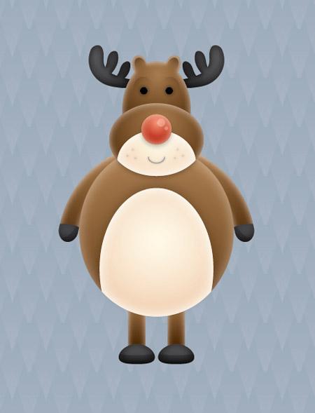 Vector Reindeer character
