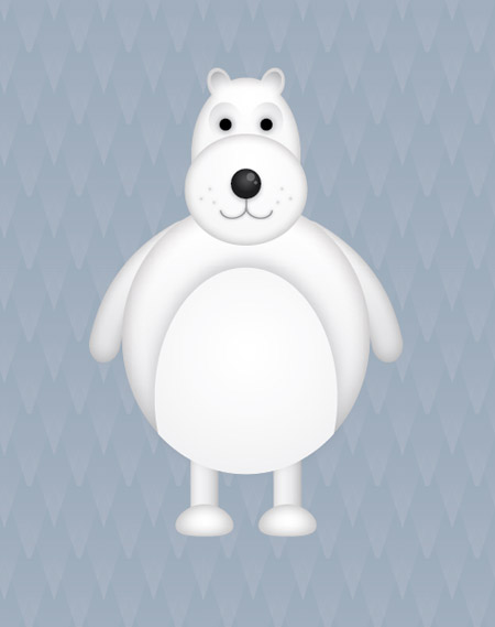Vector  polar bear characters