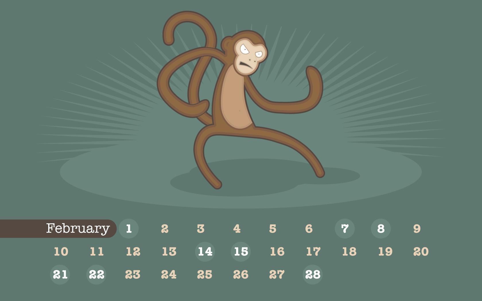 Virtual Calendar Wallpaper : Fit figures manual to keep and healthy